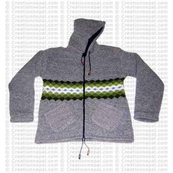 Single stripe woolen jacket