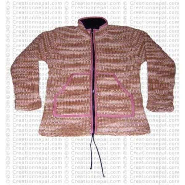 Two color tie-dye woolen jacket