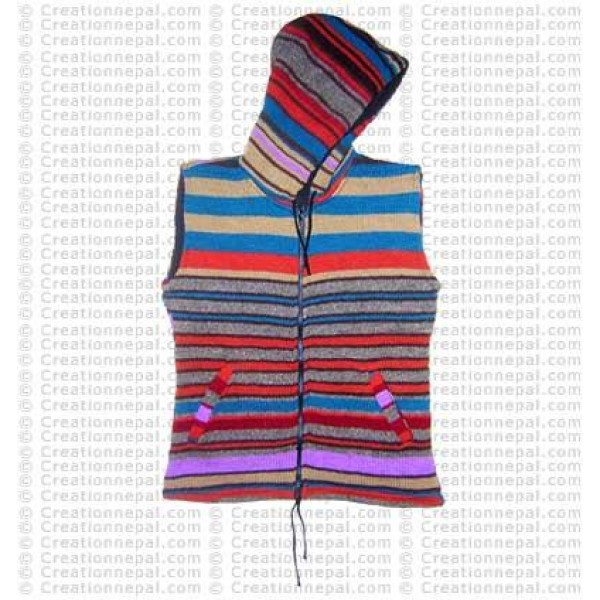 Woolen sleevesless jacket