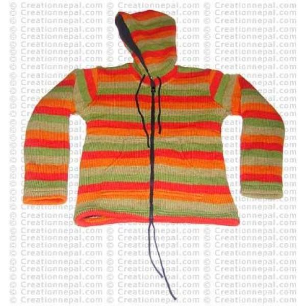 Kids woolen stripes jacket