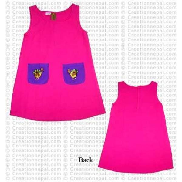 Zipper back cotton dress