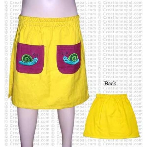 Front pocket kids skirt