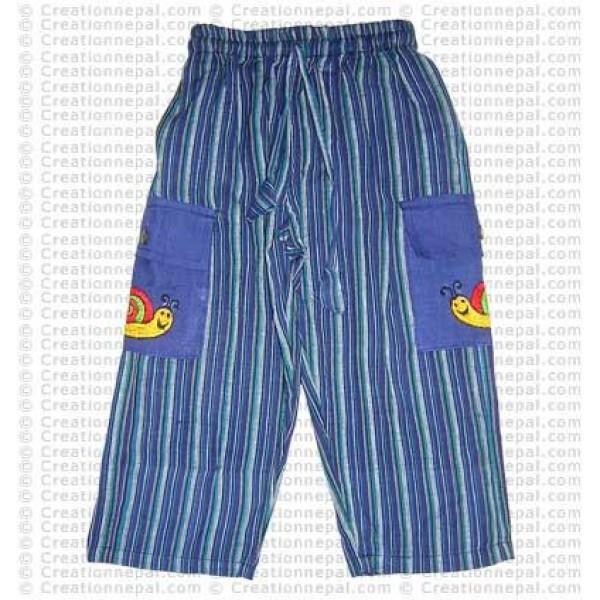 Stripes cotton kids trouser1