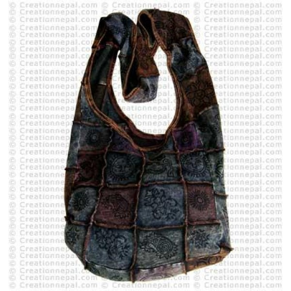 Stone wash rib cotton bag