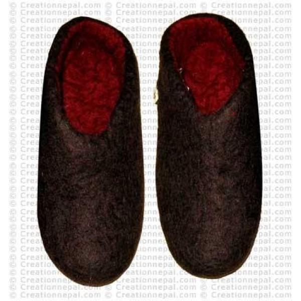 Plain felt shoes