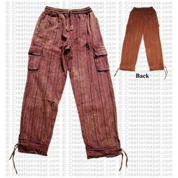 Stone wash shyama cotton string trouser