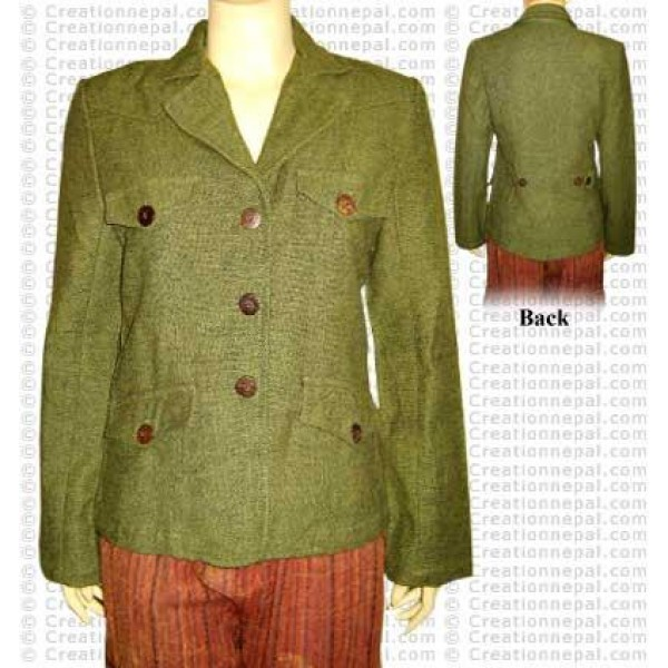 Shyama cotton plain color ladies coat
