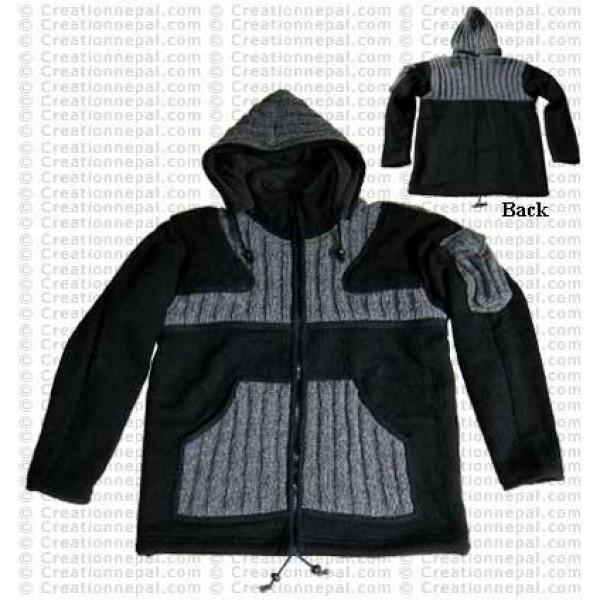 Woolen patch-pocket gents jacket