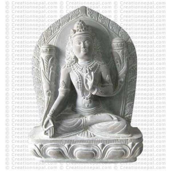 White Tara - 8'' stone statue