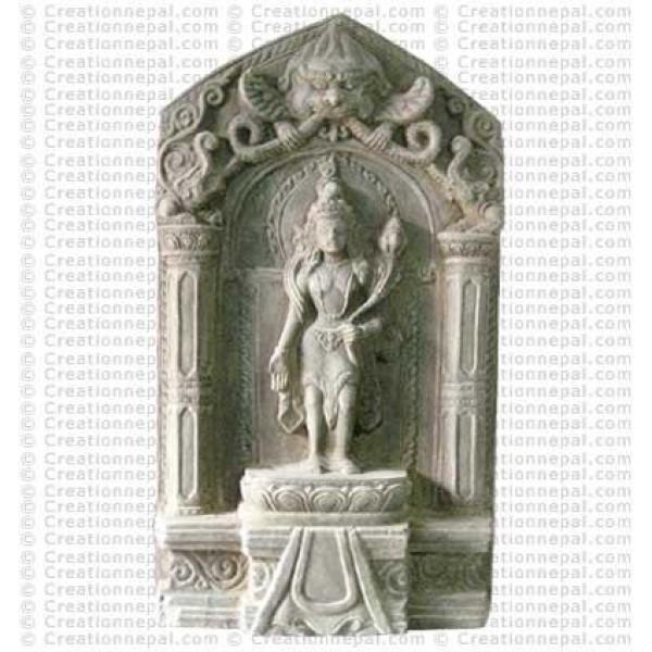Lokeshwor - 10'' stone statue