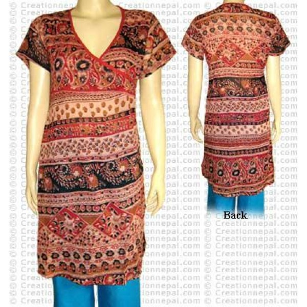 Short sleeves choli dress