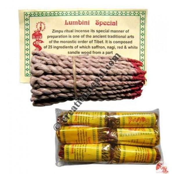 Lumbini rope incense (packet of 6)