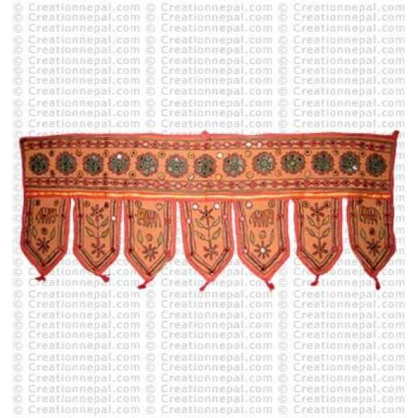 4 elephant cotton Toran (door deco)