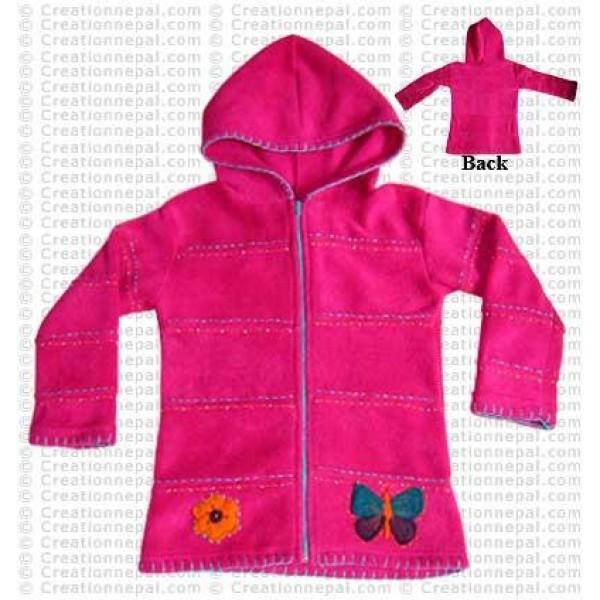 Fleece Zip kids jacket