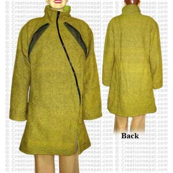 Shyama cross zip long jacket