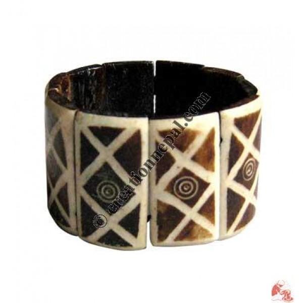 Carved bone bracelet21