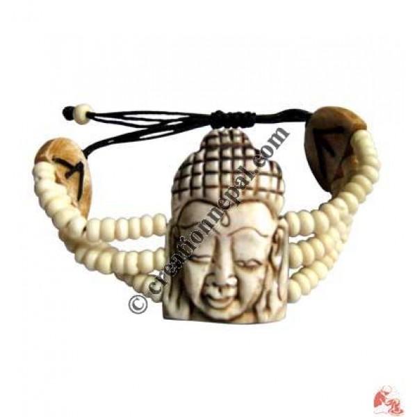White Buddha bracelet