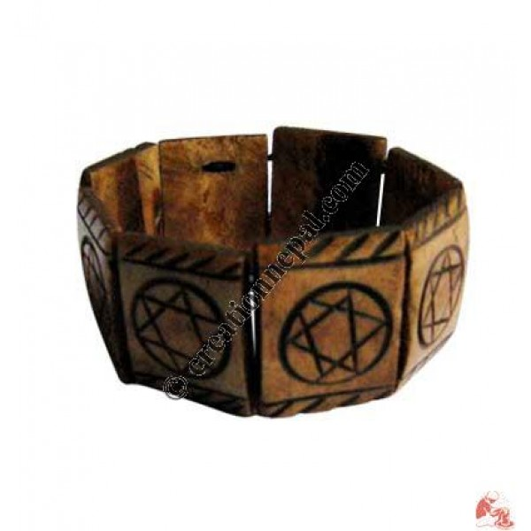 Brown circle star bracelet