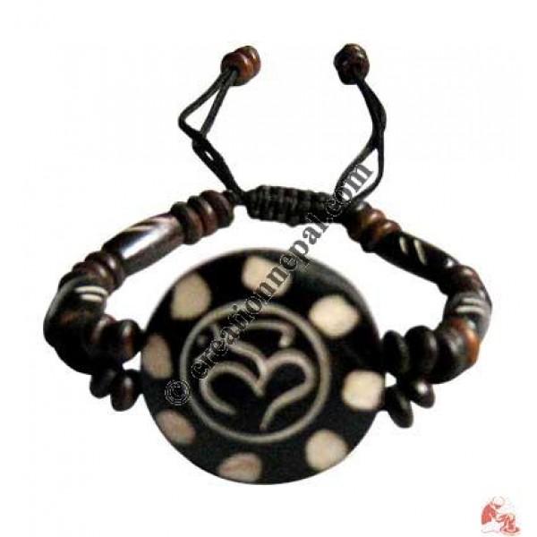 Sanskrit OM wristband