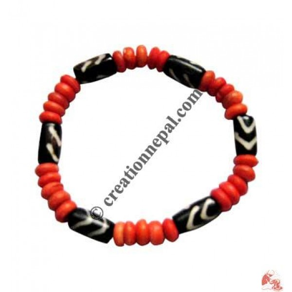 Red beads wristband