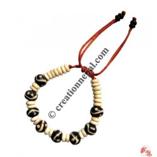 Ying-yang beads wristband