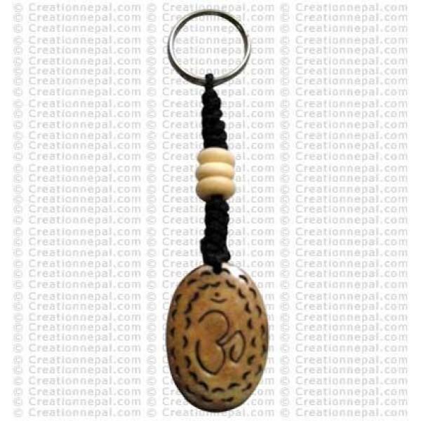 Sanskrit OM key ring