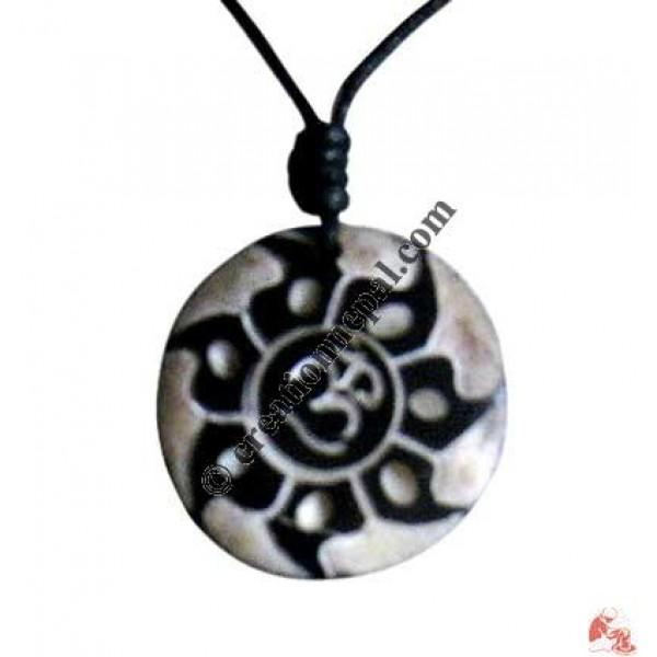 Sanskrit OM fire art amulet