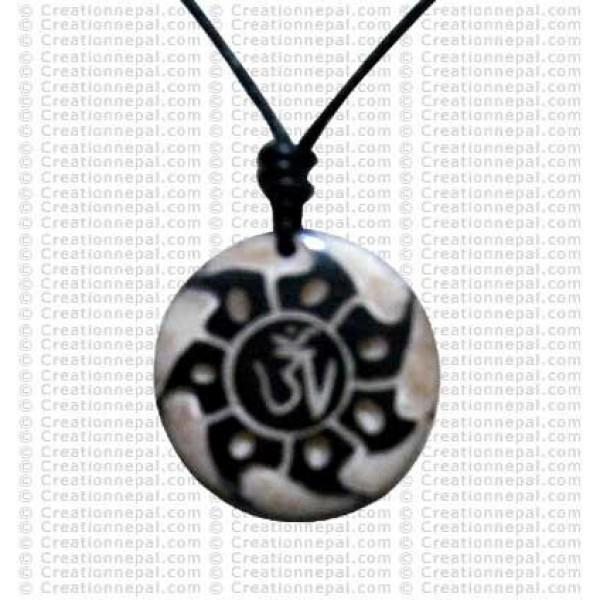 Creation Nepal Tibetan Om Fire Art Amulet Pendants Fashionable