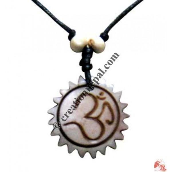 Sanskrit OM wheel amulet