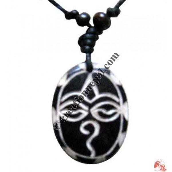 Buddha eye oval amulet