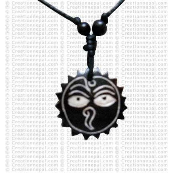 Buddha eye wheel amulet