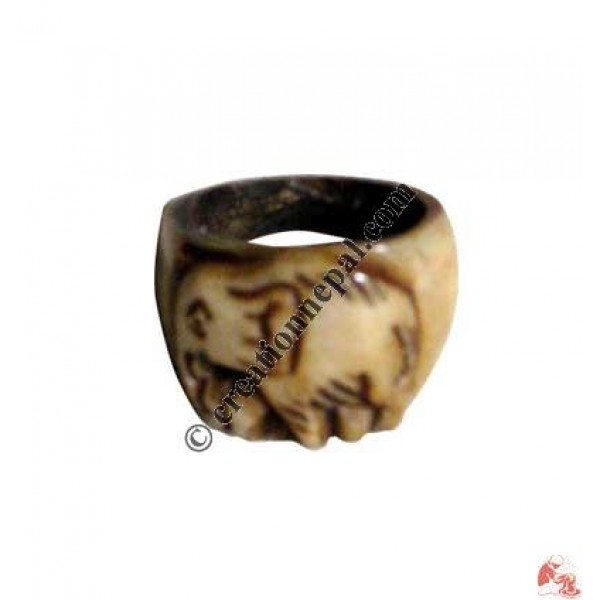 Elephant design finger ring