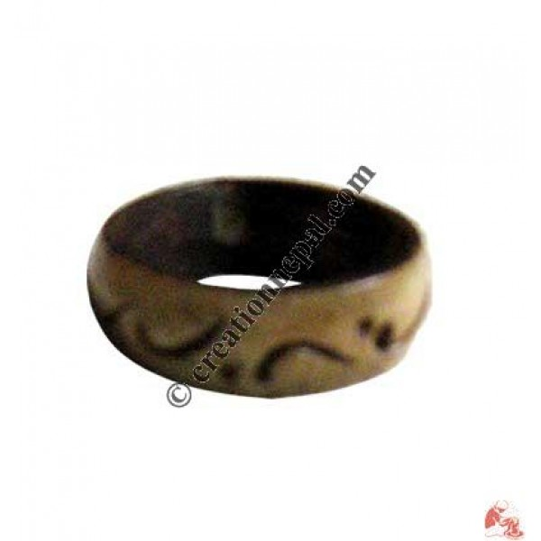 Carved bone finger ring3