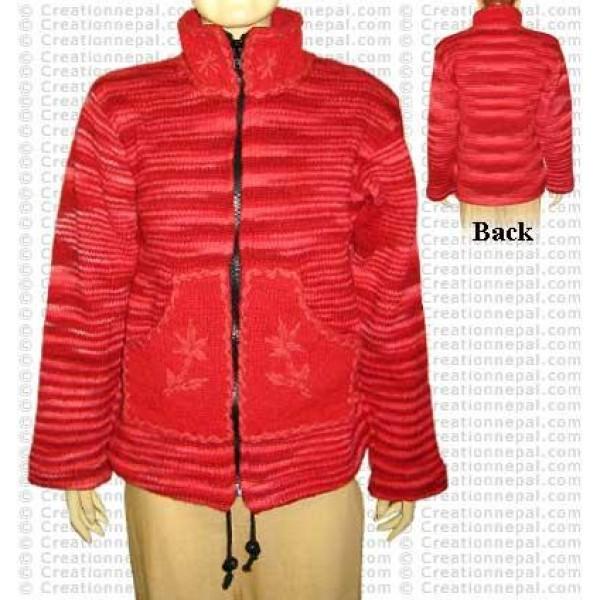 Red set hi-neck jacket