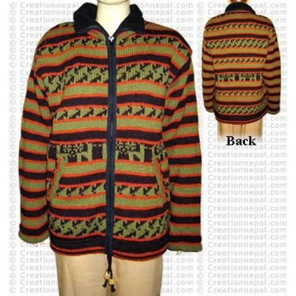 Strippy design woolen jackt6