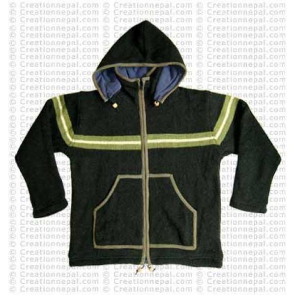 Stripe woolen men jacket2
