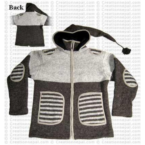 Stripes patch pocket jacket