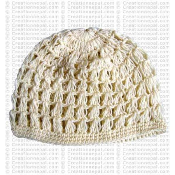 Crochet plain woolen cap4