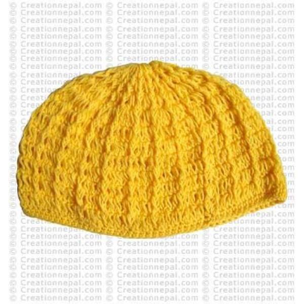 Crochet plain woolen cap5