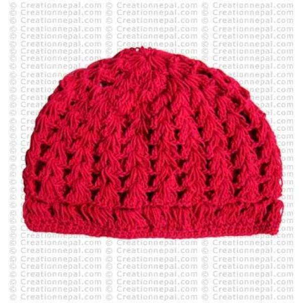 Crochet plain woolen cap7