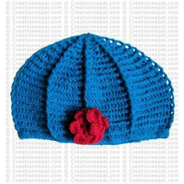 Crochet plain woolen cap9
