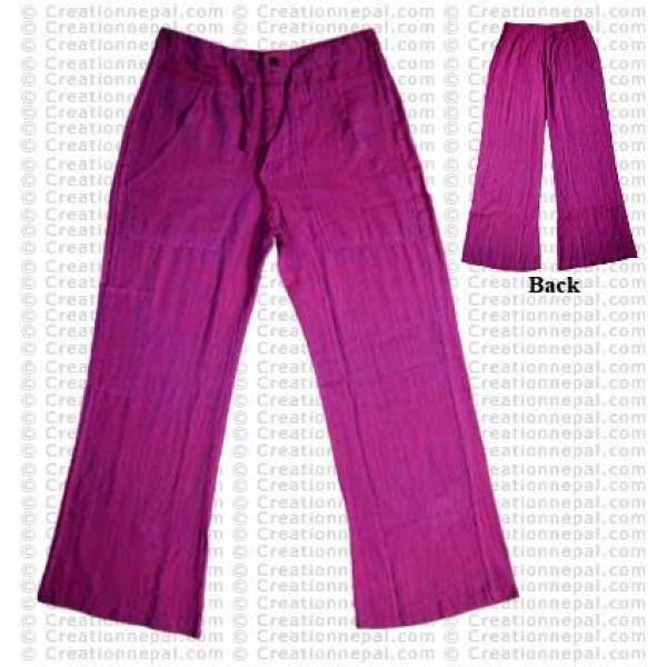 Cotton ladies trouser-pink
