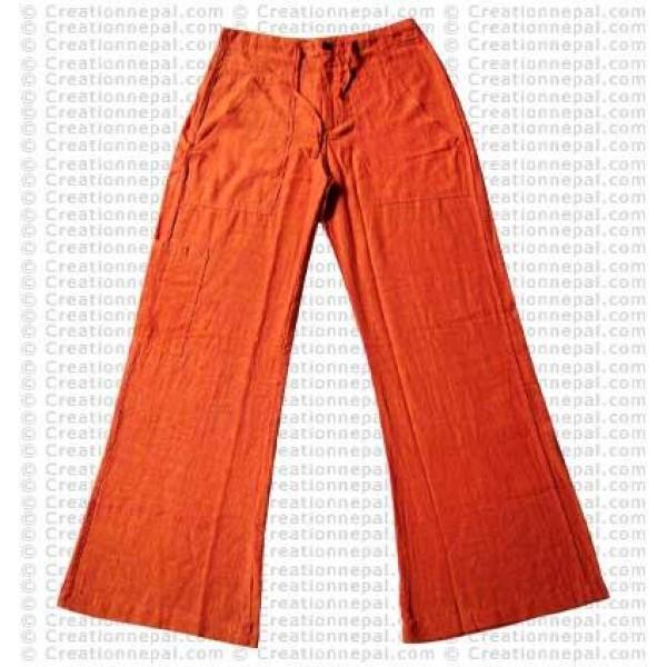 Cotton ladies trouser-orange