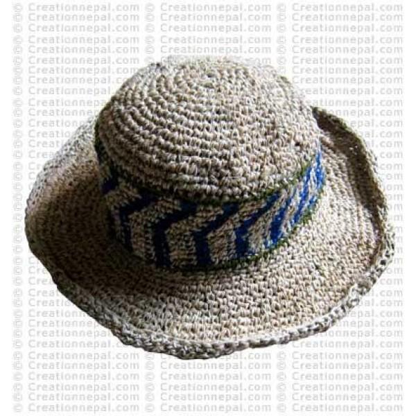 Hemp + cotton wire round hat1