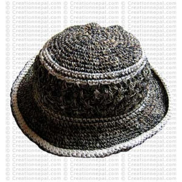 Hemp + cotton wire round hat4