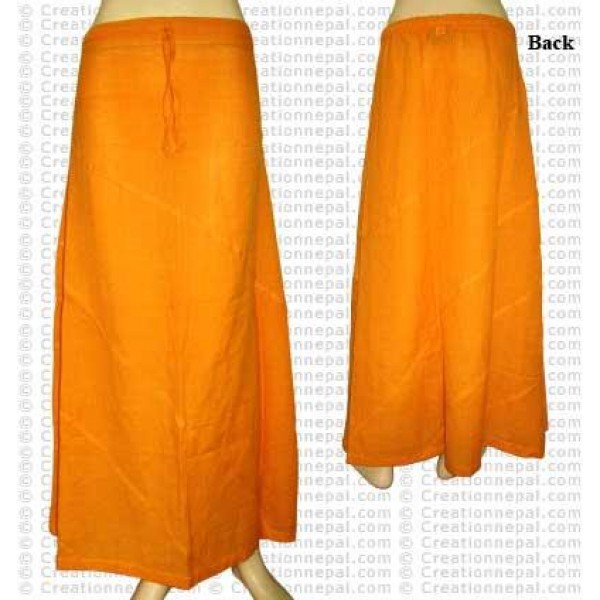 Plain color joined skirt-Yellow