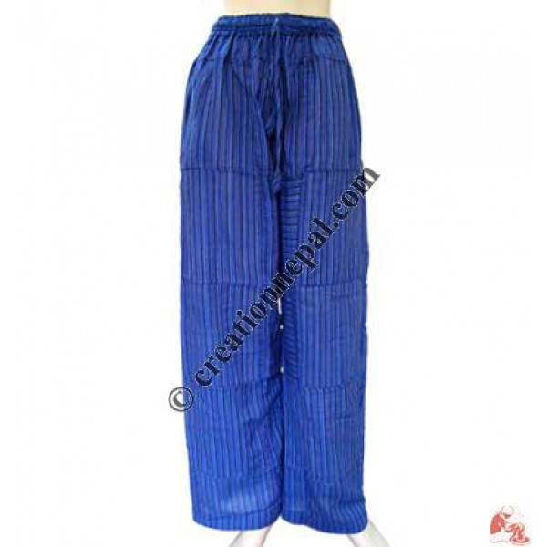 Blue stripes pieces joined trouser