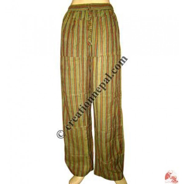Green stripes pieces joined trouser