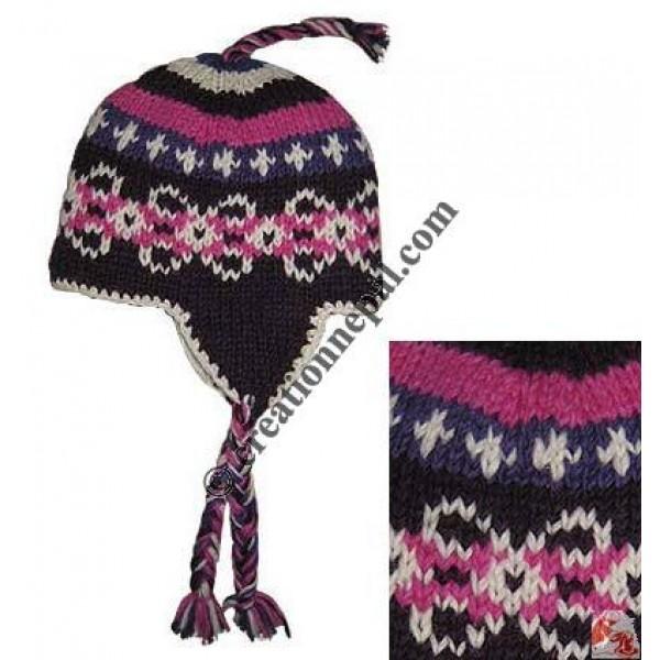 Kids woolen ear hat5
