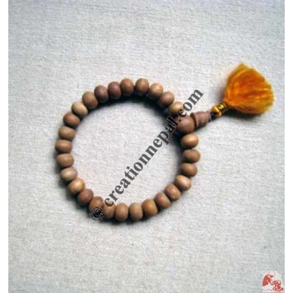 Sandal-wood 27 beads wrist mala